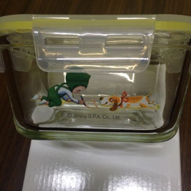 幾米《忘記親一下》玻璃保鮮盒