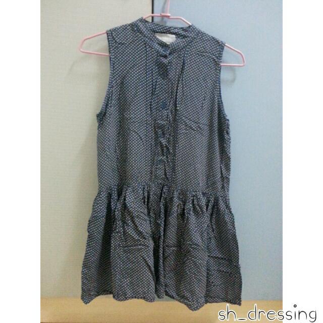 氣質無袖花紋洋裝