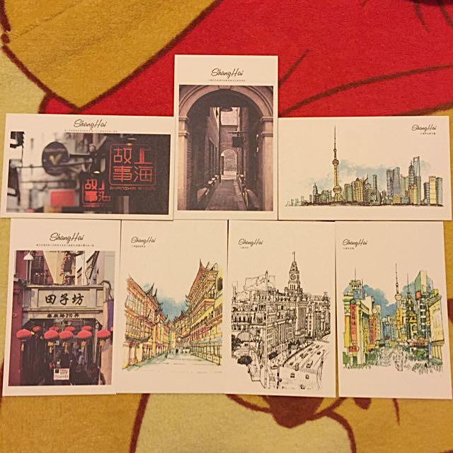 上海明信片 (親自選購帶回的)