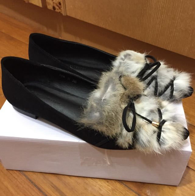 全新  安格拉尖頭平底鞋 24.5號