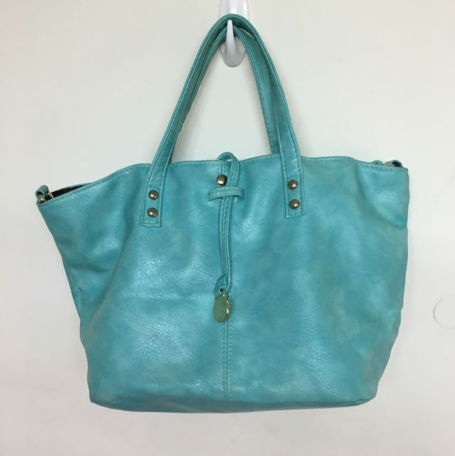 二手 天藍小舖 蒂芬尼綠包包