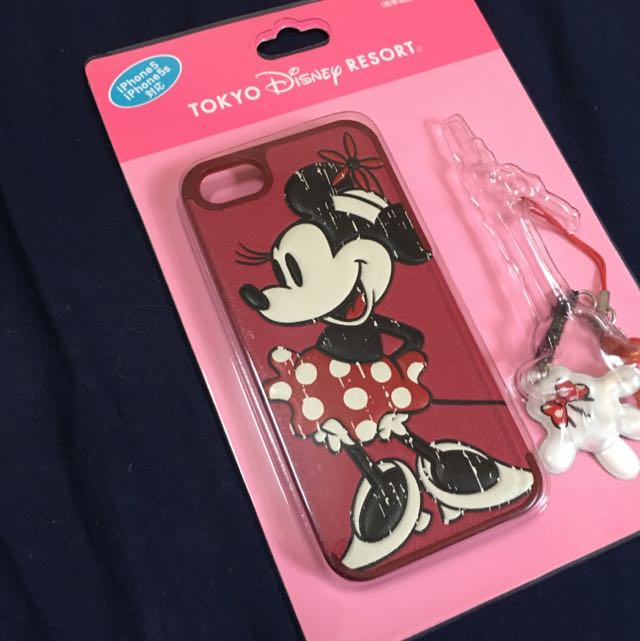 正版 迪士尼 米妮 iphone 5/5s 手機殼