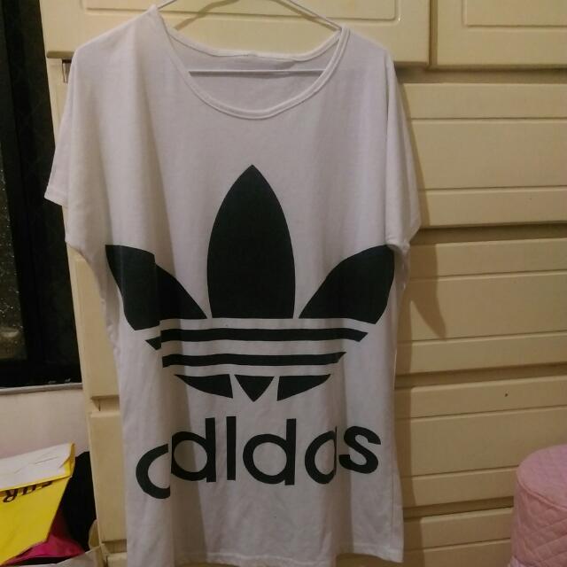 Adidas短袖白T