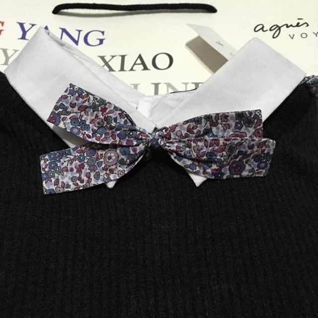 agnes b領結 領帶 法國 製