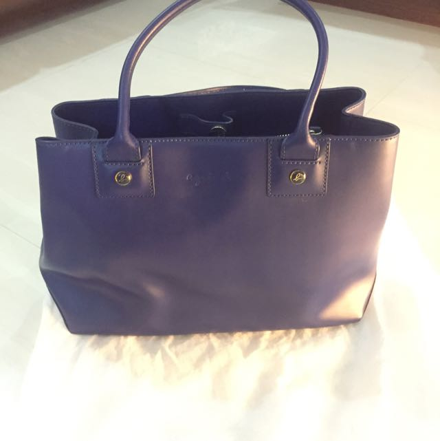 f97ca114fd9 Agnes B New York Voyage Navy Blue Tote Bag, Women's Fashion on Carousell
