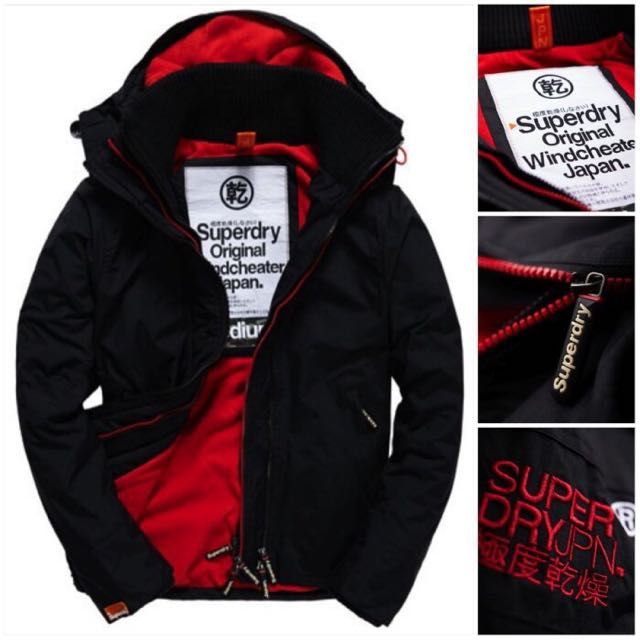 (現貨)極度乾燥Arctic黑紅款風衣