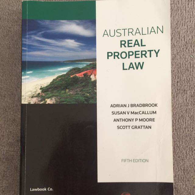 Australian Real Property Law Fifth Edition