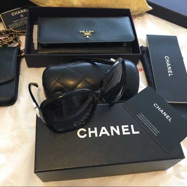 0cf9639714b Authentic Chanel Ribbon Sunglass