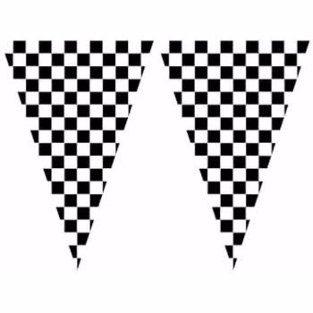 Black & White Checkered Banners (Large Size)