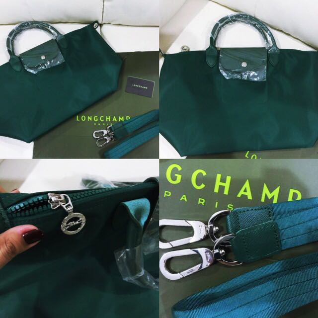 e4493feb6c7b Brand New And Authentic Longchamp Le Pliage Neo Emerald Green Medium ...
