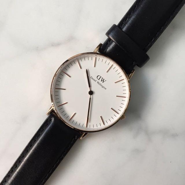 Classic Sheffield Rose Gold Daniel Wellington Watch. Worn Once RRP:$199