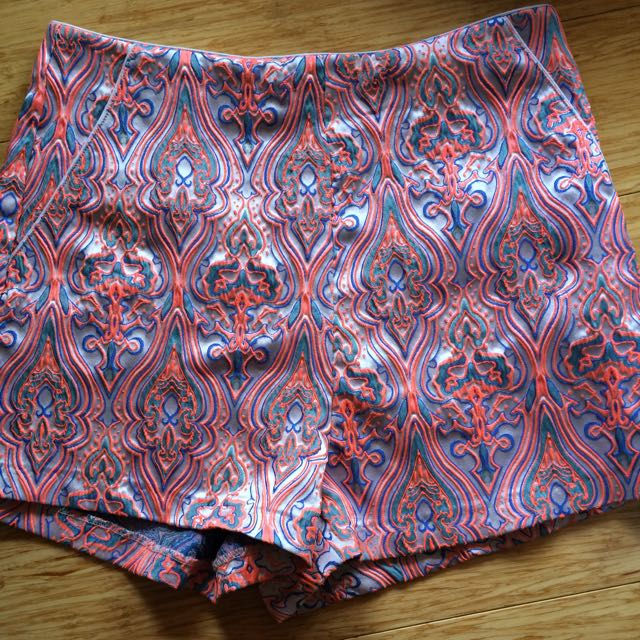 Colourful high waisted shorts
