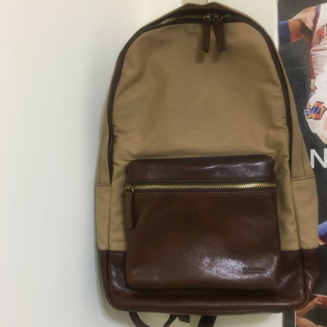 Fossil estate backpack khaki 褐色後背包 全新 未拆吊牌