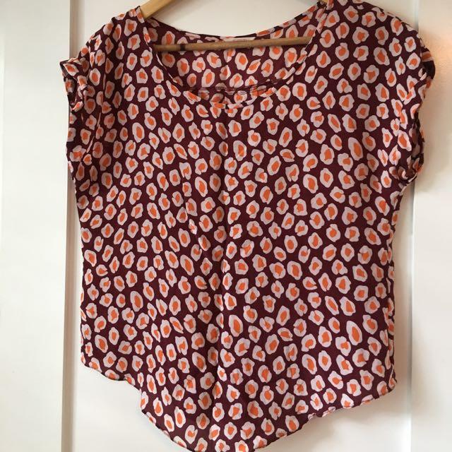 Gorman Silk Top/ Blouse Size 8