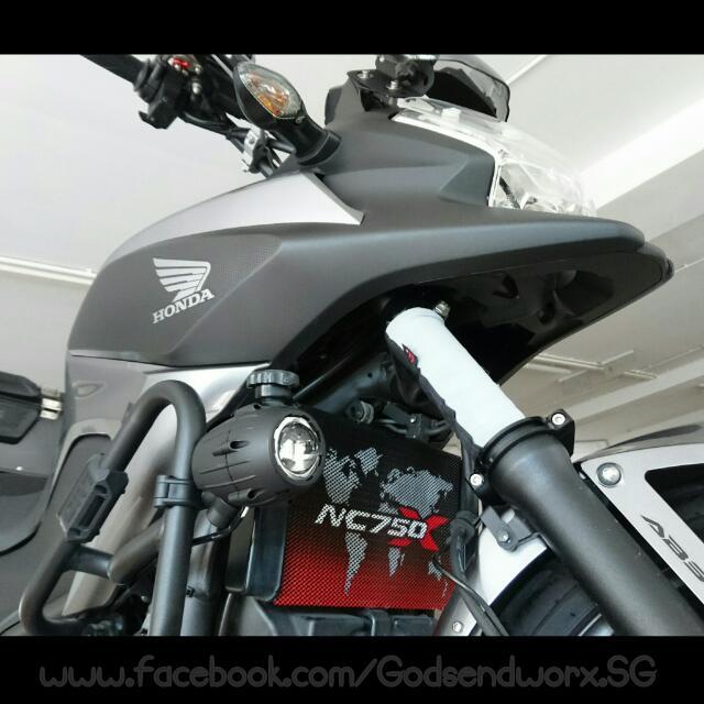 Honda Nc750x Custom Radiator Guard By Godsendworx Motorbikes