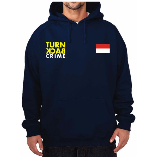 Hoodie Turn Back Crime High Quality