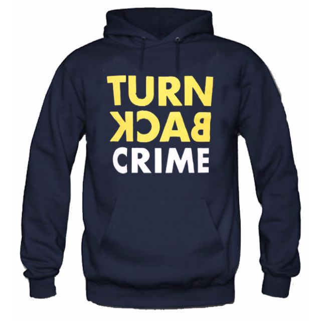 Hoodie Turn Back Crime Navy Blue