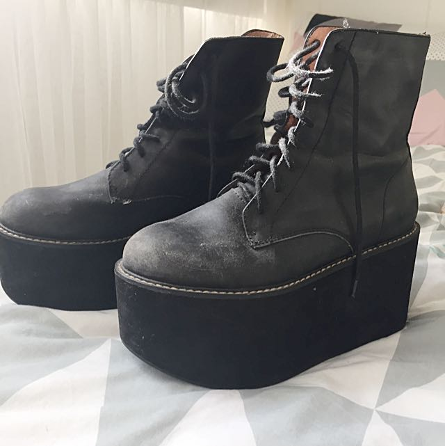 Jeffrey Campbell Riot Platform Boots