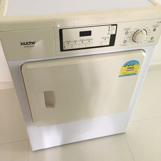 Kuche Dvf6100w 6kg Air Vented Dryer White Home Appliances On Carousell