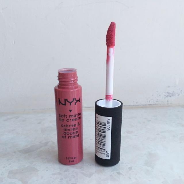 NYX霧面唇彩Soft Matte Lip Cream