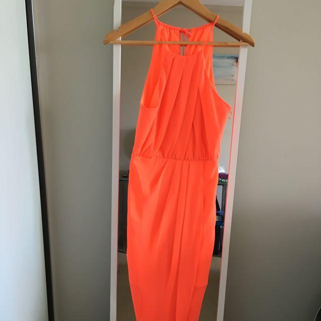 Orange Dress Size 6 Dotti