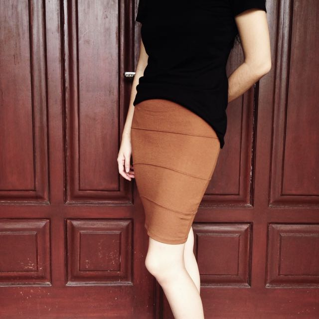 PULLNBEAR Bandage Skirt Tan - Original