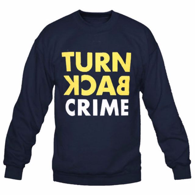 Sweater Turn Back Crime - Navy Blue