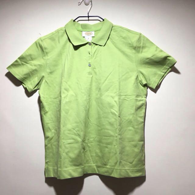 (全新)Talbots綠色短袖Polo衫