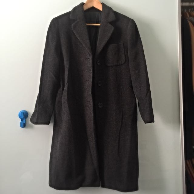Wool Long Three Button Coat
