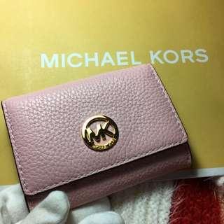 Michael Kors 信用卡包 卡夾 粉