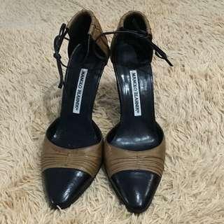 MANOLO BLAHNIK Leather Shoes/ Stiletto