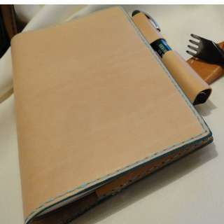 Benson 手縫皮件 手工 手縫 筆記本套 手帳本套 書衣 記事本套