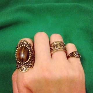 復古戒指組合