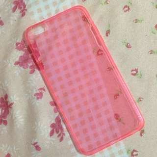 Iphone6 Plus 粉紅透明殼