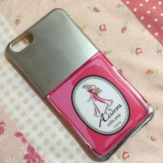睡美人仿指甲油罐軟殼iphone6plus