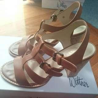 Beige Sandal Heels