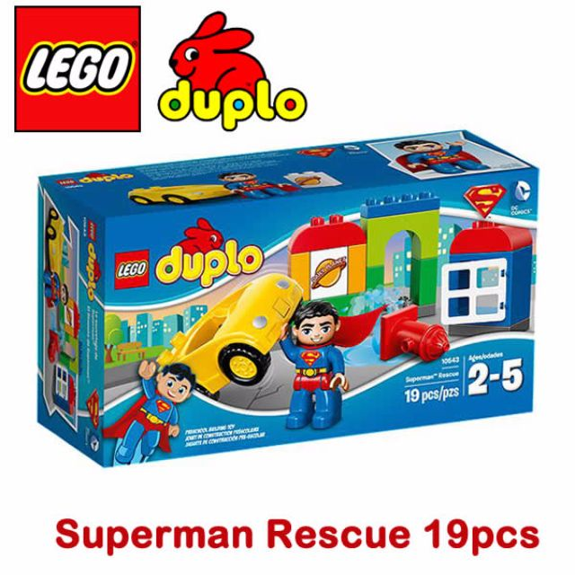10543 Lego Duplo Superman Rescue 19pcs From 2 To 5 Years Old Toys