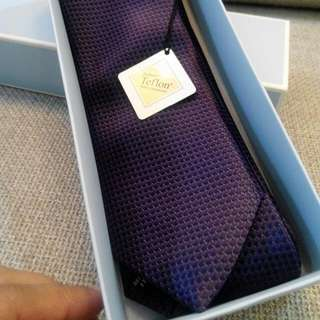 Necktie (Dark Purple) with DuPont Teflon Fabric Protector