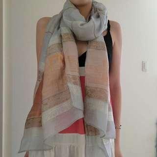 初春輕薄紗絲巾,三色,含運