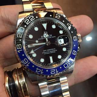 Pre-owned Rolex GMT-Master II 116710BLNR Batman