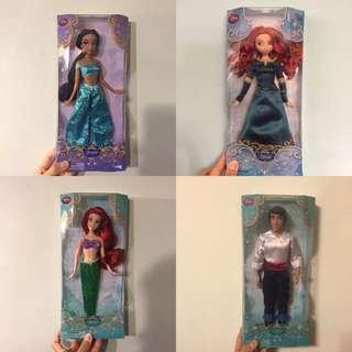 迪士尼 芭比 美國購入 艾莉兒 人魚 公仔 茉莉 冰雪奇緣