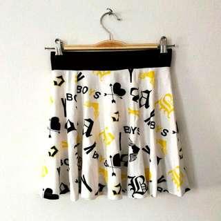 H&M BOYS Wording Skater Skirt