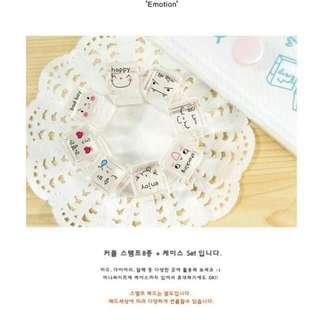 韓國水晶-表情💠印章套裝
