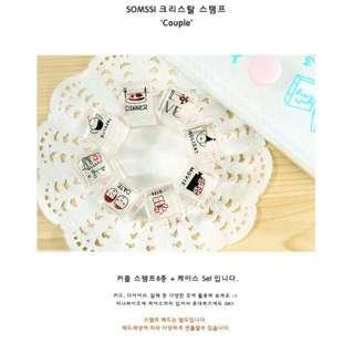 韓國水晶-戀人💠印章套組