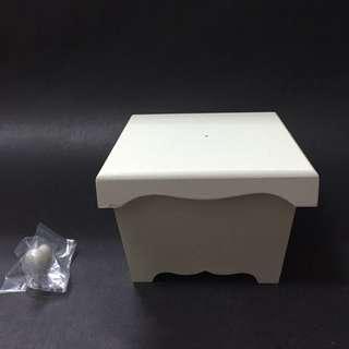 白色木製糖果盒