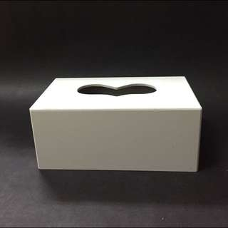白色木製面紙盒