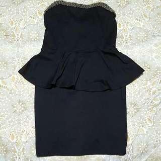Zara Peplum Dress Size S