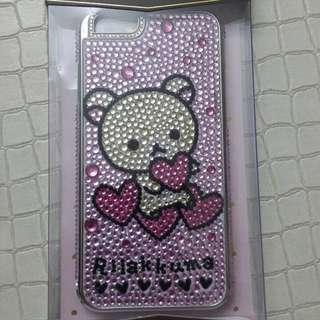 可愛趴趴熊iphone6水鑽手機殼,含運