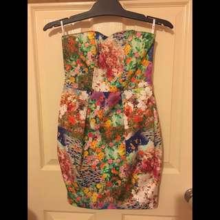 Bardot Floral Tube Dress
