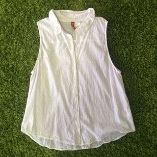 H&M Sleveeless White Shirt